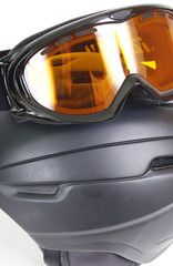 Ski helmet and ski goggles