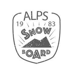 Snowboarding typography icon, logotype and badge st