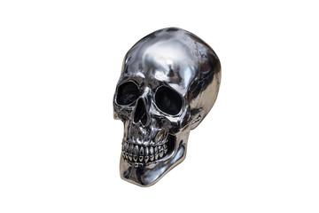 metal chrome skull