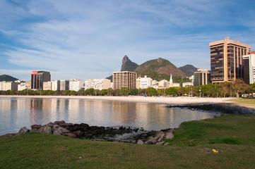 Rio de Janeiro Cityscape with the Corcovado Mountain