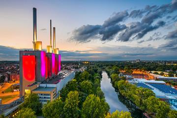 Linden Kraftwerk in Hannover, Deutschland