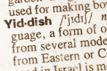 Dictionary definition of word Yiddish