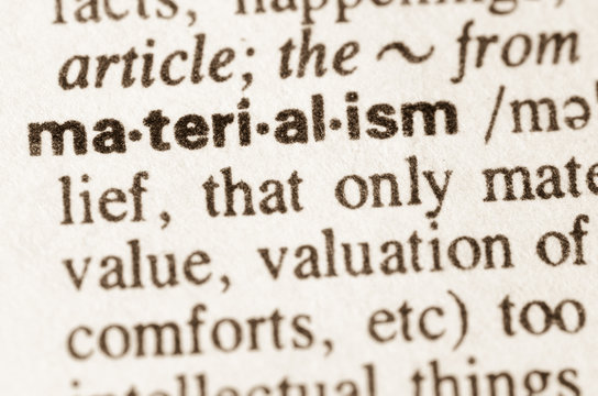 Dictionary definition of word materialism