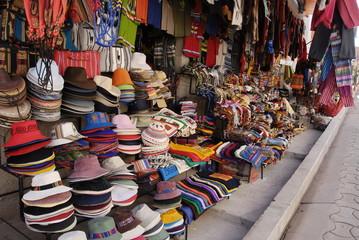 Handicraft market in Copacabana, Bolivia.