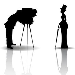Photographer and model