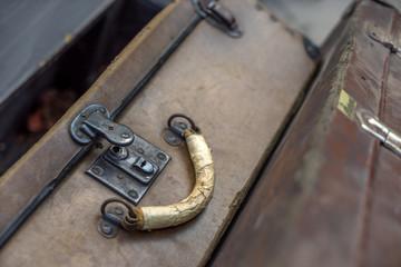 Old vintage suitcases