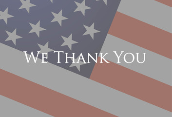We thank you veterans.
