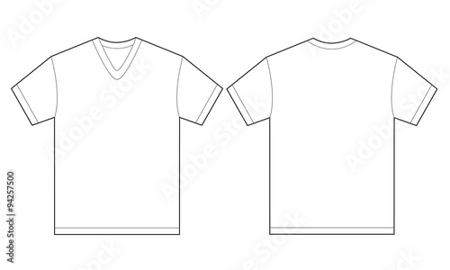 White VNeck Shirt Design Template For Men Stock Image And Royalty - Sweatshirt design template