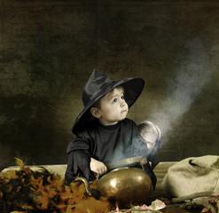 Little halloween boy