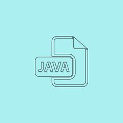 Java development file format flat icon