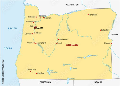 Quotsimple Oregon State Mapquot Obrazw Stockowych I Plikw