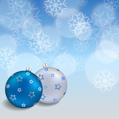 Background abstract blue new year Christmas ball frame illustration vector