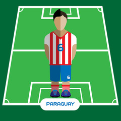 Computer game Paraguay Soccer club player