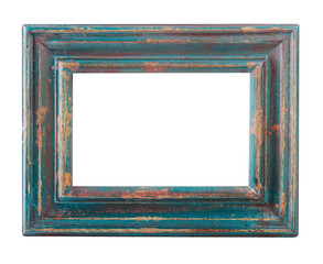 Vintage worn Blue Picture Frame