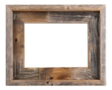 empty old barn wood frame