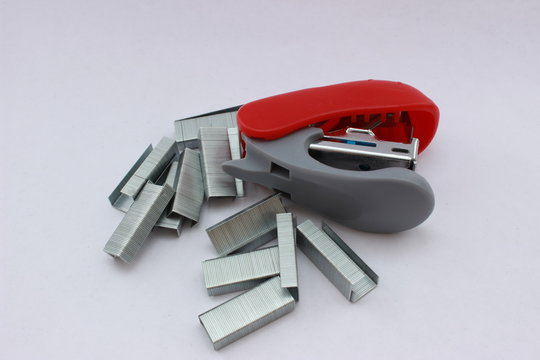 stapler and punch press