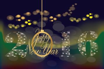 New Year lighting background 2016