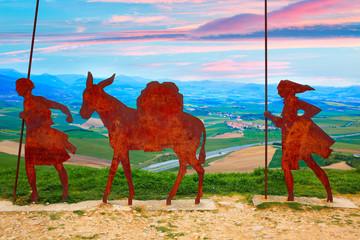 The way of Saint James Alto del Perdon Navarra Wall mural