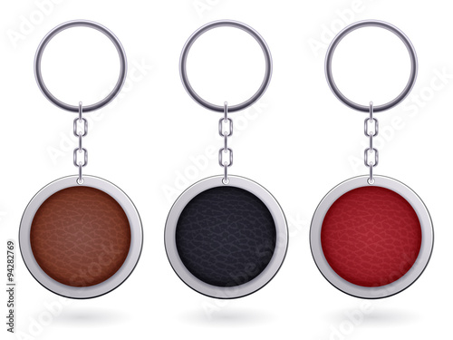 realistic keychain pendant template stock image and royalty free