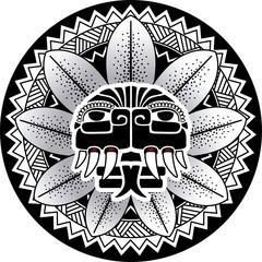 Maya snake deity vector illustration Plumed Snake