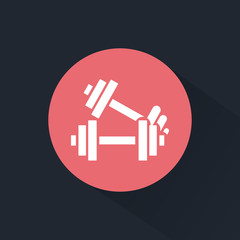 Sport dumbbells icon