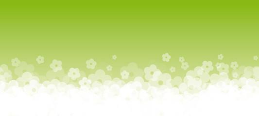 Banner fiori fondo verde