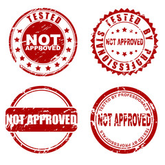 Red  stamp - not approved
