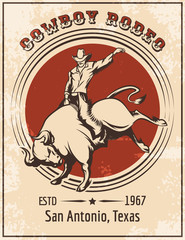 Cowboy Rodeo Poster