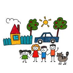 Happy family. Vector illustration