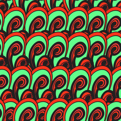 Seamless multicolor summer pattern. Bright vector hand drown bac