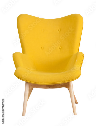 Yellow Modern Chair Isolated Stockfotos Und Lizenzfreie Bilder Auf