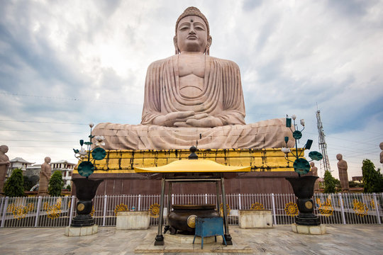The Great Buddha Statue in Bodhgaya, Bihar, India.