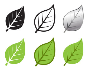 Herb leaf icon in many style, Vector