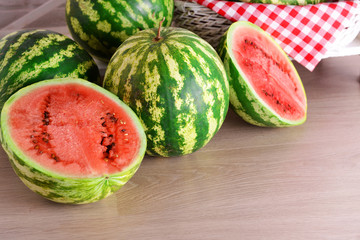 Watermelons closeup