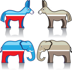 Donkey and Elephant Political Parties