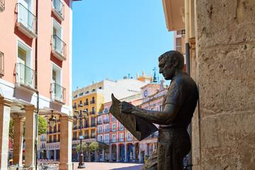 Burgos statue or the newspaper reader Spain