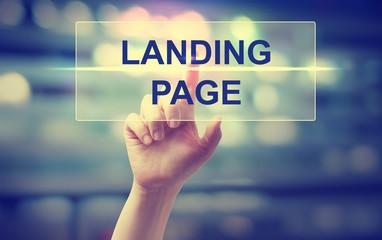 Hand pressing Landing Page