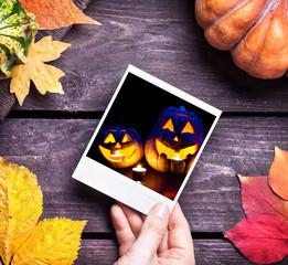 Halloween pumpkins picture