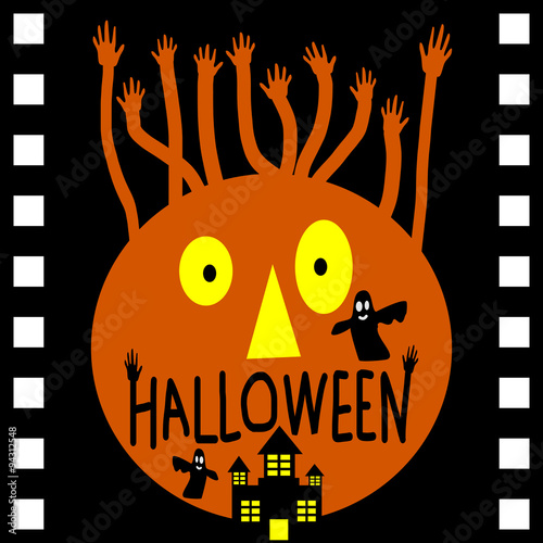 Halloween day in movie film vector