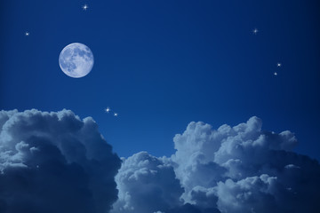 Fantastic view of  Night Sky, Stars  and the Moon