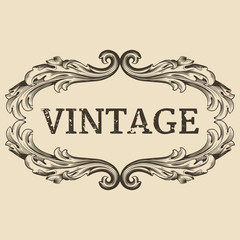 Vintage label. Calligraphic design elements and page decoration, Premium Quality and Satisfaction Guarantee Label collection with vintage engraving flowers.