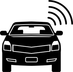 Car sensor Satellite link Wifi vector icon Alarm signal