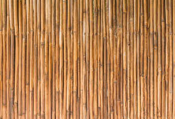 bamboo wood of fence wall background