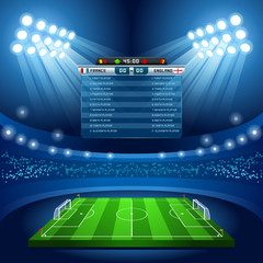 Football Sport Background Stadium Vector