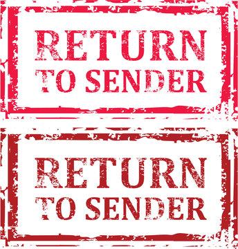 Return To Sender Grunge Stamp