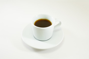 Coffee cup close up, isolated white.