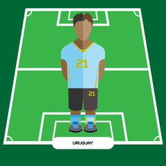 Computer game Uruguay Soccer club player