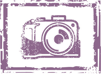 Grunge Photo Camera Stamp Vector