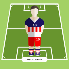 Computer game United States Soccer club player