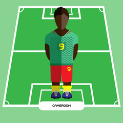 Computer game Cameroon Soccer Football club player